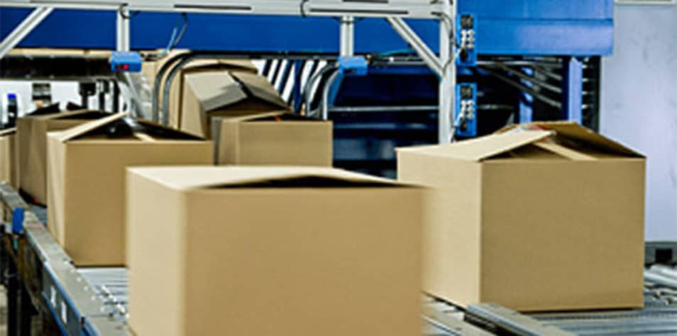 Boxes on conveyors
